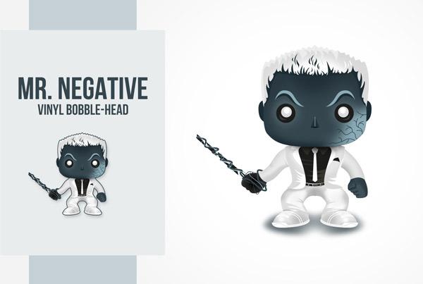 Ilustracja Mr Negative Funko Pop!